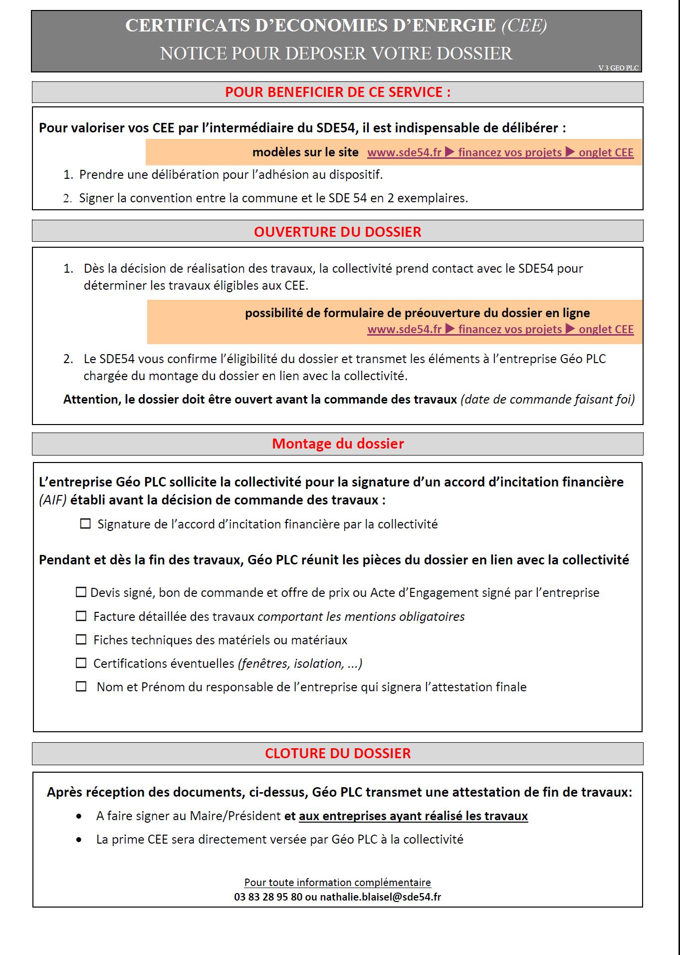Certificats D Economies D Energie Cee Financements Du Sde54 Le